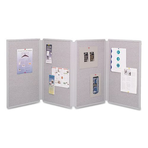 Quartet Tabletop Display Presentation Board, Fabric, 72 x 30, Gray, EA - QRT773630 by ACCO Brands by Unknown