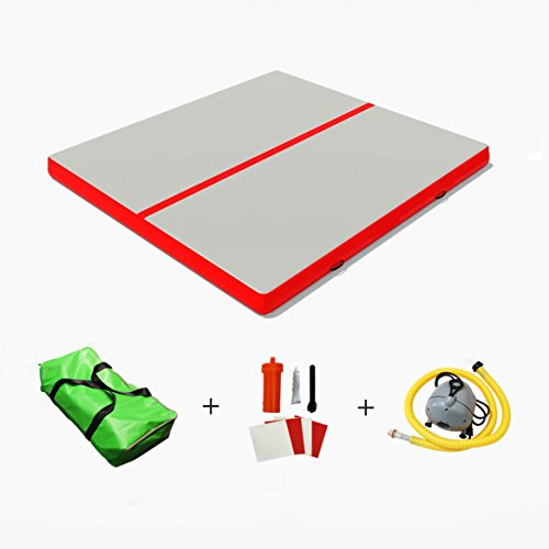 Sportmad 13' Inflatable Air Tumbling Mat Track Gymnastics Mats Air Floor Training Reinforced Equipment Cheerleading Gymnastics Training Beach on Water Home Gym Fitness by Sportmad (Image #1)