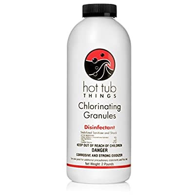 Hot Tub Things Chlorine Granules 2 Pounds - Effective Spa Water Disinfectant