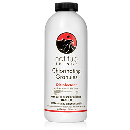 (Hot Tub Things Chlorine Granules 2 Pounds - Effective Spa Water Disinfectant)