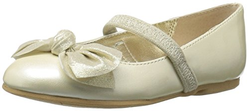 Image of NINA Girls' kaytelyn-t Ballet Flat, Ivory, 10.5 M US Little Kid
