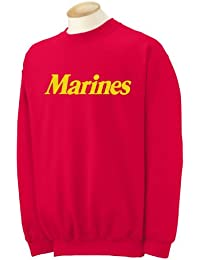 Marines Crewneck Sweatshirt in Red
