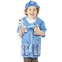 9 Piece Melissa & Doug Veterinarian Role Play Costume Dress-Up Set
