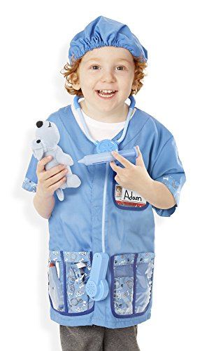 Doctor Patient Costumes (Melissa & Doug Veterinarian Role Play Costume Dress-Up Set (9 pcs))