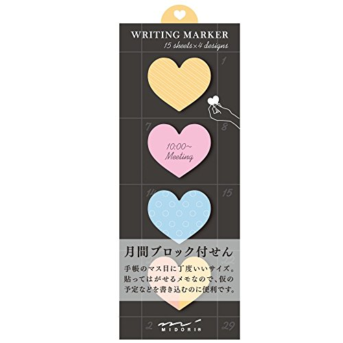 Midori Square Type Sticky Note Hearts (11264006)