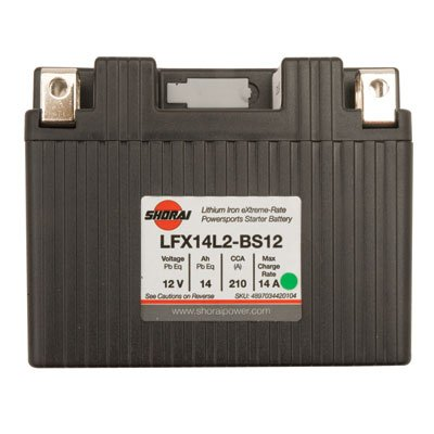 Shorai Lithium-Iron Battery LFX14A2-BS12 for Can-Am DS450 X MX 2009-2015
