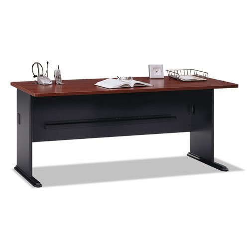 Series A 72W Desk in Hansen Cherry and Galaxy by Bush Business Furniture