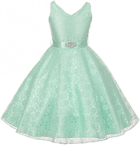 Dresess For Girls - Big Girl Dress Lace Floral Pattern