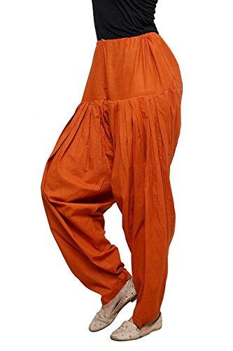 Ruchi Mart Women Indian Patiala Salwar Cotton Baggy Trouser Rust Orange (Rust Salwar)