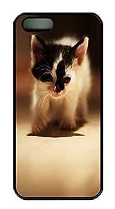iPhone 5 5S Case Cute cat 3 PC Custom iPhone 5 5S Case Cover Black