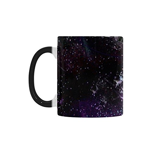 Artsadd Morphing Mug Animal Marmots in Space Galaxy Solar System Hot Cold Heat Sensitive Color changing Black and White 11 Oz Ceramic Coffee Tea Mug Cup by Artsadd