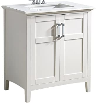 Simpli Home Winston 30 quot  Bath Vanity with Quartz Marble Top  soft WhiteSimpli Home Winston 30  Bath Vanity with Quartz Marble Top  soft  . 30 Bathroom Vanity With Top. Home Design Ideas