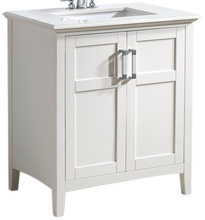 Attractive Simpli Home Winston 30u0026quot; Bath Vanity With Quartz Marble Top, Soft White