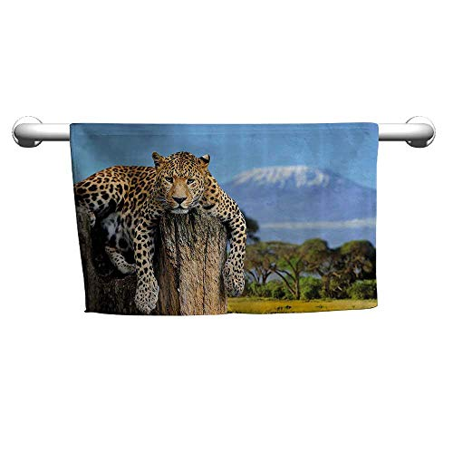 Used, Andasrew Floral Hand Towels Wildlife Decor,Leopard for sale  Delivered anywhere in Canada