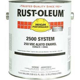 Rust-Oleum 2500 System <250 Voc Dtm Alkyd Enamel Safety Blue Gallon Can - Lot of 2