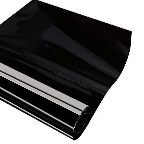 Black 2pcs 12x48 Car Smoke HeadLight Tint Wrap Waterproof Fog Light Adhesive Vinyl Tint 90/% Transmittance Taillight Film Sheet Sticker