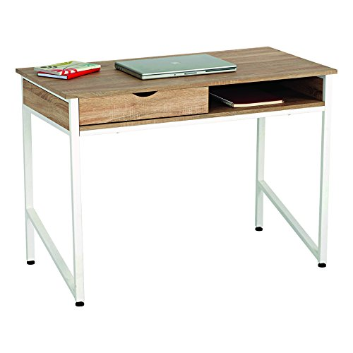 Safco Products 1950WH Studio Desk with Single Drawer Storage, White ()