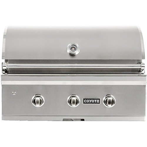 (Coyote C-series 34-inch 3-burner Built-in Natural Gas Grill - C1c34ng)