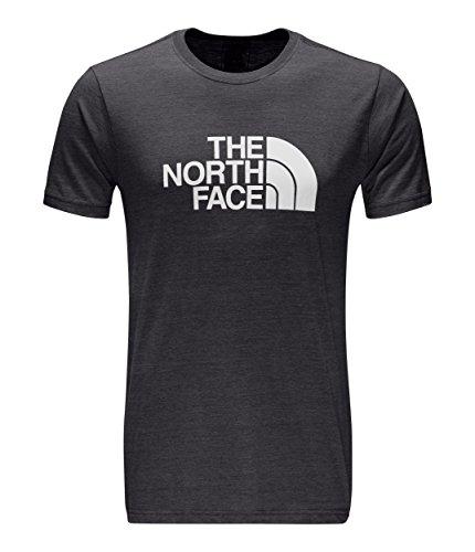 The North Face Men's Short-Sleeve Half Dome Tri-Blend Tee - TNF Dark Grey Heather & TNF White - XL