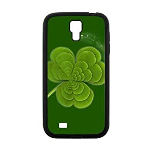 Fresh green three leaves with shining star personalized creative clear protective cell phone case for Samsung Galaxy S4