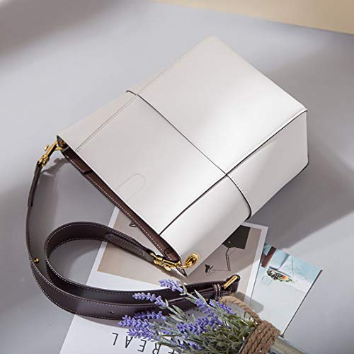 White Diagonal Cremallera Simple Inclinado color Versátil Black Con Baachang Mujer Bolso Tote Para qptnY7O