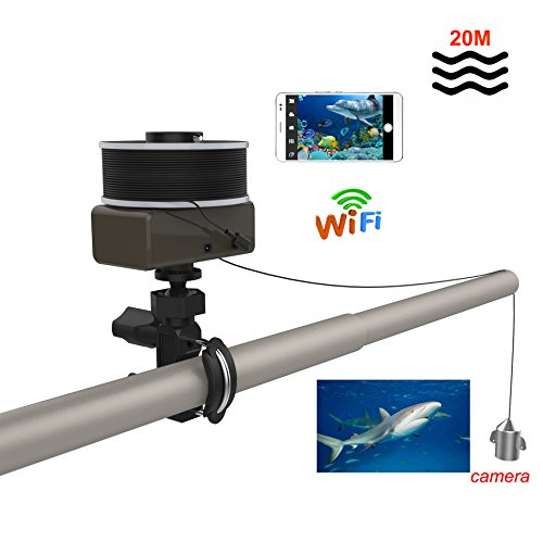Wireless Diving Camera 30M Underwater Fish finder With Rechargeable Power Battery 720P waterproof Camera IOS Andriod APP View by VGSION