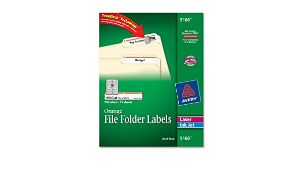 Amazon Avery Filing Label 5166 Office Products