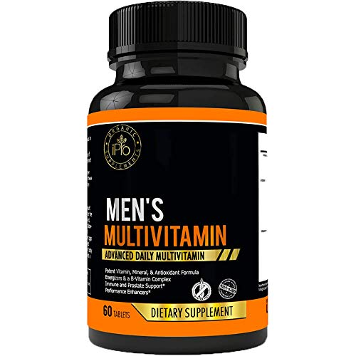 iPro Organic Supplements 60 Caps Men's Daily Multivitamin - Herbal Nutrients, Vitamins & Mineral Blend, Natural Herbs & Berries Pills: Saw Palmetto, Zinc, Selenium, Boost Overall Health & Energy (Fertility Enzyme Therapy)
