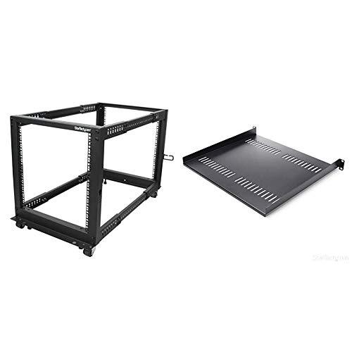 12U Adjustable 4 Post Server Equipment Open Frame