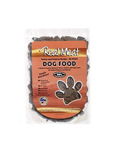 (Real Meat Company Air Dried Turkey & Venison Dog Food, 2-Lb Bag)