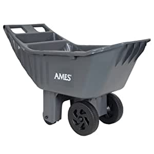 Ames Easy Roller 4 cubic foot poly yard cart - 2463875