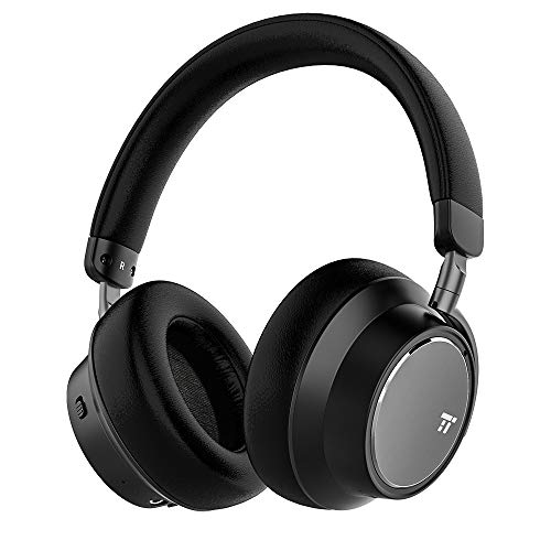 TaoTronics Hybrid Active Noise Cancelling Headphones [2019 New Version] Bluetooth Headphones Over Ear Headphones Headset with Deep Bass, Fast Charge 30 Hour Playtime for Travel Work TV PC Cellphone