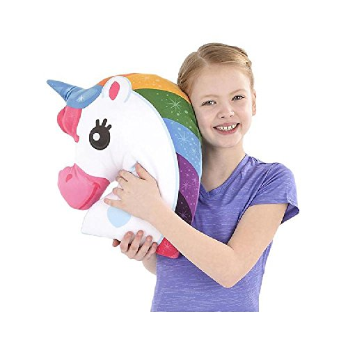 16'' Unicorn Pillow by Bargain World