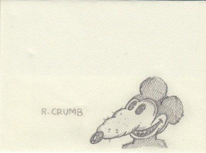 Robert Crumb (Cartoonist) signed sketch