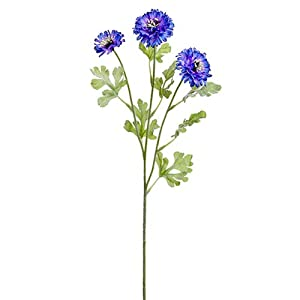 "24"" Cornflower Silk Flower Stem -Purple (Pack of 12) 112"