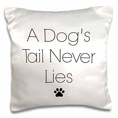 3dRose BrooklynMeme Pets - A dogs tail never lies black prin