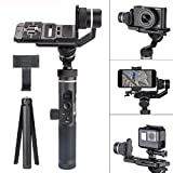 FY FEIYUTECH Feiyu G6 Plus 3-Axis Splash-Proof Stabilizer Gimbal 800g Payload 12 Hours Running Time for Mirrorless Camera/Digital Cameras/Action Camera/Smartphones w/EACHSHOT Phone Clip