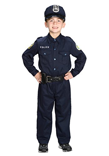 [Aeromax Jr. Police Officer Suit, Size 6/8 with police cap,badge, and belt to look and feel like the real] (Law Enforcement Child Costume)