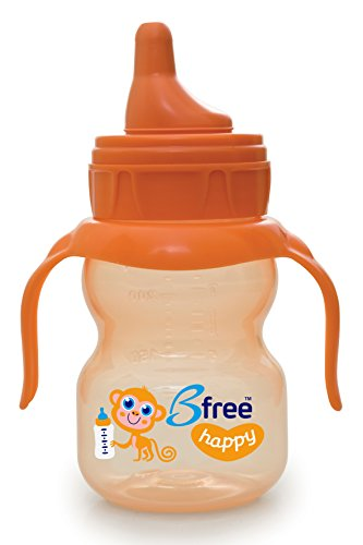 Bfree BPA-Free Anti-Colic, Soft Spout Happy Baby Sippi Cup, Orange - 7 oz