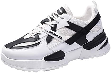 Men Casual White Shoes Outdoor Walking Students Shoes Breathable Sneakers Ins