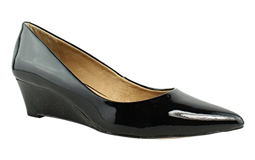 Opportunity Shoes - Corso Como Women's Nelly Pump, Black Patent, 9.5 Medium US (Black Patent Leather Wedges)