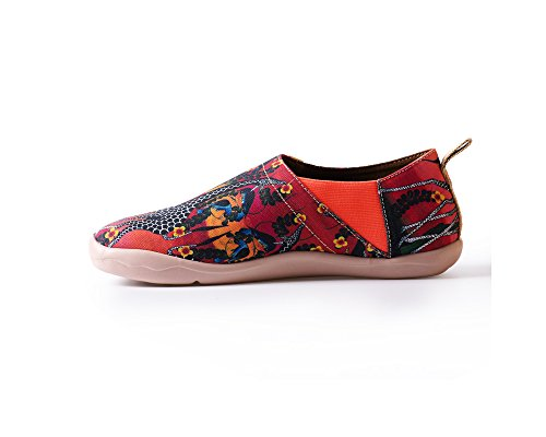 UIN Mens Wonderland Canvas Painted Shoe Red CbBt2a