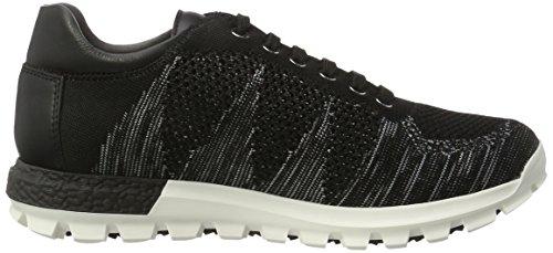 Pollini 52565, Pantofole Uomo Mehrfarbig (Nero-grigio-bianco)