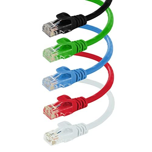 Red 10-feet premium Cat6 Patch LAN Ethernet Network Cable 10 Pack