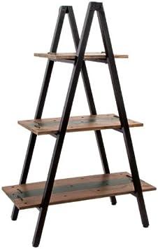 Estantería en forma de pirámide. Madera y metal estilo rústico-industrial: Amazon.es: Hogar