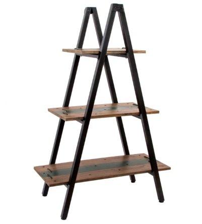 Estantería en forma de pirámide. Madera y metal estilo rústico-industrial a51406511a96