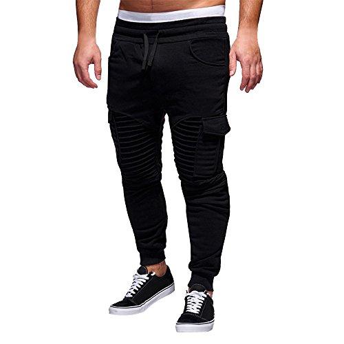 Spbamboo Mens Pants Slacks Casual Elastic Joggers Sport Baggy Pockets Trousers by Spbamboo (Image #7)