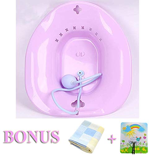 Kueysing Sitz Bath, Over-The-Toilet Perineal Soaking Bath, for Hemorrhoidal Relief, Ideal for Post- Pregnant Women-Episiotomy Patients (Pink) by Kueysing