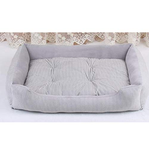 cola-site Extra Large Pet Bed Sofas for Cat Dogs Husky Bulldog Removable Sleeping Cushion Mattress Take Out Small Large Dog House,Grey,M 60X45X15Cm