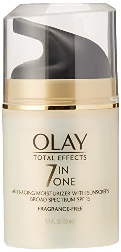 OLAY Total Effects 7-in-1 Anti-Aging Face Moisturizer with SPF 15, Fragrance-Free 1.7 (Oil Of Olay Spf 15 Moisturizer)